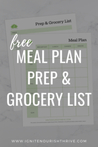 Free Meal Plan, Prep, and Grocery List