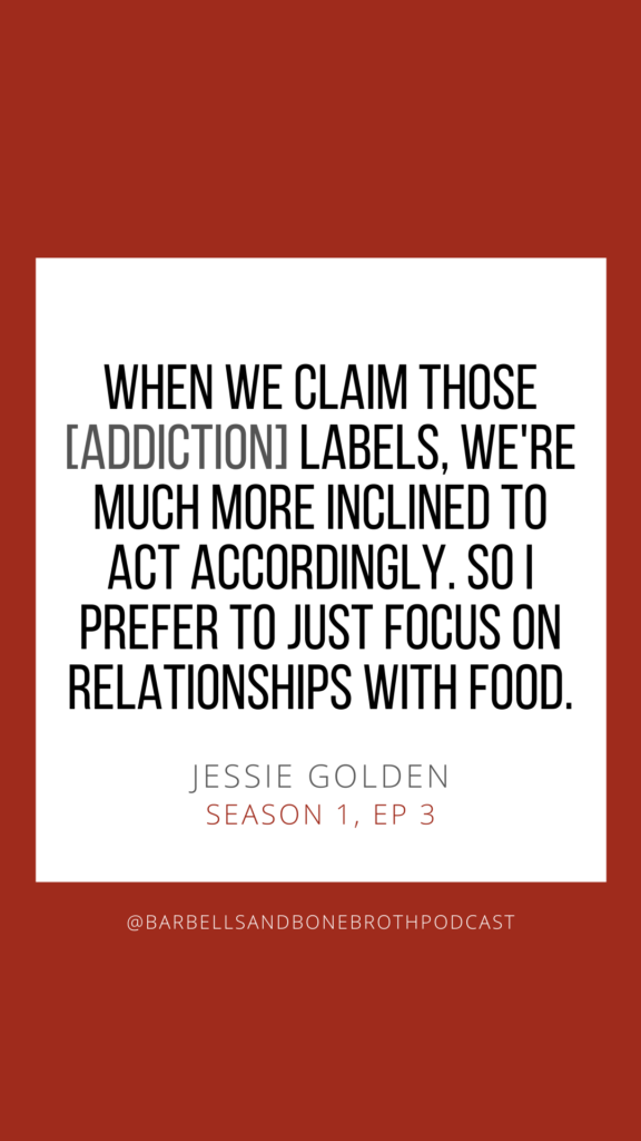 Reclaiming the Food Relationship with Jessie Golden on the Barbells and Bone Broth Podcast